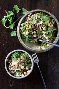 Spring wheat berry salad with lemon sumac dressing
