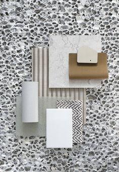 Material Mood Of The Week ~ Aluminium & Natural Stone #nimbusbykvadrat #aluson #aluminium #transsatcoplastic #metalmesh #dedartextiles #setamatka #stone #interiordesign #interior #architecture #design #materials #layering #composition #moodboard #inspiration #studiodavidthulstrup