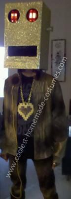 Coolest LMFAO Golden Robot Costume: The idea for this LMFAO Golden Robot costume came from my 13 yr old son Kenneth and our love for music. It's from the popular group LMFAO video Party Rock