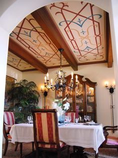 note ceiling art detail - 15 Dining Room Decorating Ideas | Living Room and Dining Room Decorating Ideas and Design | HGTV