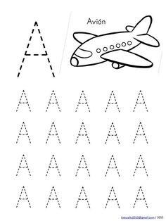 Preschool Writing, Numbers Preschool, Preschool Learning Activities, Alphabet Activities, Handwriting Worksheets For Kids, Alphabet Tracing Worksheets, Kids Math Worksheets, Tracing Letters, Free Images