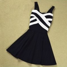Stripes Hit The Color Stitching Strap Dress A 091214 · MegaFashion · Online Store Powered by Storenvy Pretty Outfits, Pretty Dresses, Beautiful Dresses, Cute Outfits, Pretty Clothes, Tween Fashion, Girl Fashion, Fashion 101, School Fashion