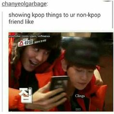 I just made the same. I showed it this to my brother, like chan showed sth to baek