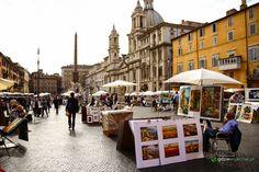 Piazza Navona w Rzymie. Poczytajcie też o innych placach w #Rzym :) http://gdziewyjechac.pl/23134/rzymskie-place.html