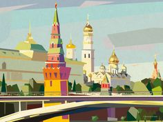Moscow on Behance