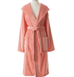 Pine Cone Hill Selke Fleece Coral Hooded Robe Ships Free