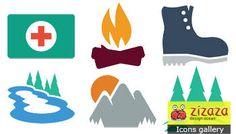 #Icon set - Great outdoors - Zizaza item for free #icons #iconset #webdesign