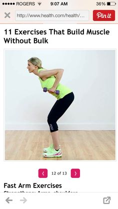 Fast arm exercise