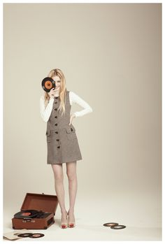 Francis Fall 2012 - Annabelle houndstooth knit jumper dress