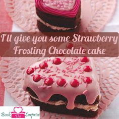 I'Will give you some strawberry frosting #chocolate #cake.#sweet #party #gift #giftidea #bookthesurprise