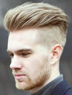 men hairstyle with shaved sides 130