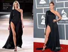Jennifer Lopez In Anthony Vaccarello – 2013 Grammy Awards