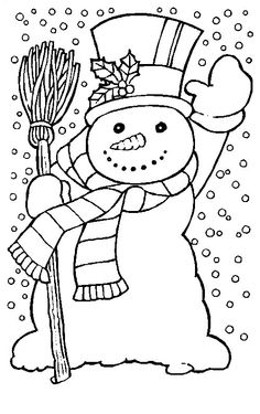 Christmas snowman embroidery