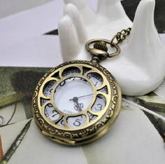 Large Size Pocket Watch with free Necklace Chain   by ministore, $4.40