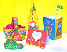 Russian Matryoshka doll papercraft: Easy DIY party decor! #birthdayparty https://happythought.co.uk/craft/printables/russian-matryoshka-doll-papercraft