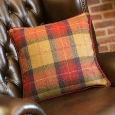 Seasonal Check Square Cushion