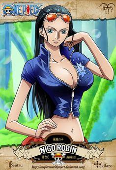 One Piece - Nico Robin By ~maffo1989 Card Design & Backgrund By ~Tekilazo300 & ~Bejitsu: