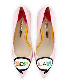 Boss Lady Patent Leather Pump, Baby Pink by Sophia Webster at Neiman Marcus.