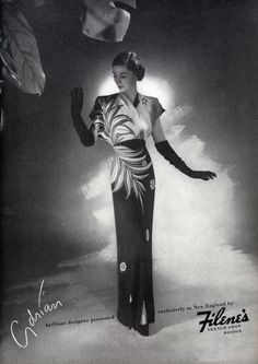 1944, Adrian for Filene's French Shop  I love this dress (sws)
