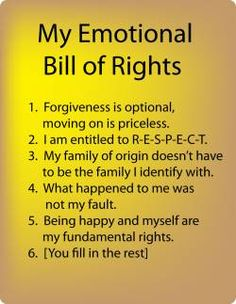 quotes about healthy kids | Setting Healthy Boundaries - An Emotional Bill of Rights For Child ...