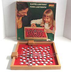 Vintage Brio Of Sweden Wood Fork Labyrinth Game Labyrinth Game, Brio, Vintage Games, Creative Play, Craft Kits, Fork, Sweden, Board Games, Plush