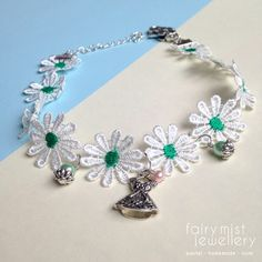 Lace Daisy Choker Flower Necklace Cute by fairymistjewellery