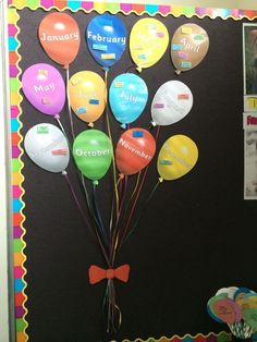 66 Super Ideas For Wall Display Ideas Preschool Birthday Charts