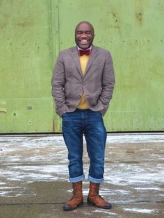 grey and yellow mens outfit - Google Search