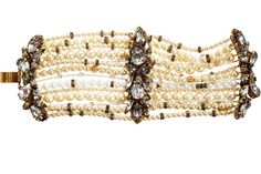 Erickson Beamon Pearl And Crystal Large Multi-Strand Bracelet, $1,335, available at Barneys.
