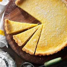 Shortbread Lemon Tart Recipe from Taste of Home