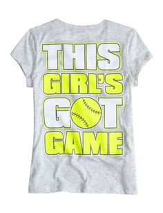 Justice Softball Front Back Sports Graphic Tee | Sports | Graphic Tees | Shop Justice