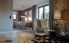 Salon idealnie dopasowany do znaku zodiaku Living Etc, Living Spaces, Living Room Designs, Living Room Decor, Brick And Wood, Beautiful Interiors, Sweet Home, Dining Table, House Design