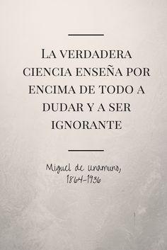 Miguel de Unamuno, 1864-1936 #bibliotecaugr #Citas #Unamuno