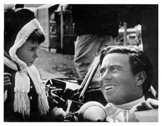 1968 Jim Clark and young Damon Hill