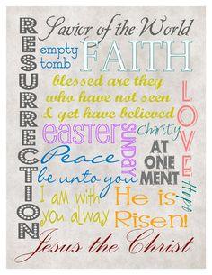 10 Inspirational Easter Printables