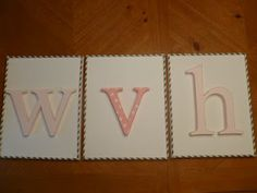 Our Pinteresting Family: Wall Monogram with Paper Straw Border
