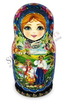 painting matryoshaka dolls | Russian Matryoshka nesting dolls (20-05):