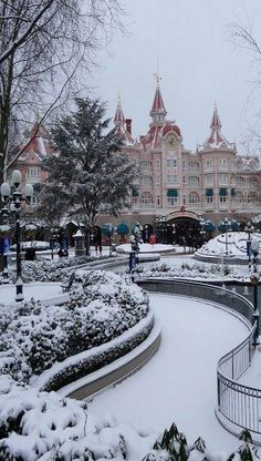 Disneyland Paris Under Snow, France