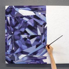 My next painting 💎 A portrait of The Argyle Liberté - a Fancy Deep Gray-Violet diamond from Optimum Diamonds collection. HOW AWESOME IS THIS COLOR? Trying to decide if I want to display it horizontal or vertical. Geometric Quilt, Geometric Drawing, Geometric Art, Diamond Drawing, Diamond Art, Crystal Tattoo, 5th Grade Art, Dot Art Painting, Jewellery Sketches