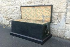A VICTORIAN SEA CHEST WITH ROPE BECKETS FROM HUTCHISONANTIQUES.COM