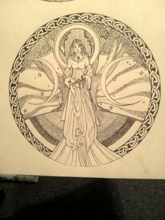 Celtic goddess sketch