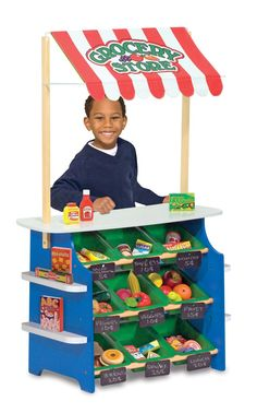Amazon.com: Melissa & Doug Deluxe Grocery Store / Lemonade Stand: Toys & Games