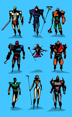 Marvel dc Motu Vector sketches - simplicity helps isolates the main wow-factor of a silhouette