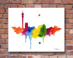 """""""Johannesburg Skyline"""" by 2015 , Abstract Watercolor, Watercolor Paper, Watercolor Paintings, Abstract Art, Johannesburg Skyline, South Africa Art, Office Art, Art Club, Picture Wall"""