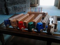 Wooden trucks for Crayons by tdarizona on Etsy, $14.00