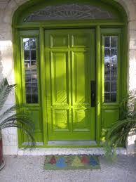 Just the right shade of Chartreuse...think I'll paint my front door this color!