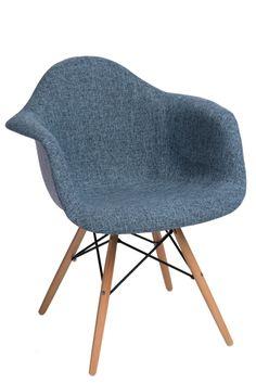 Krzesło P018W Duo niebiesko szare
