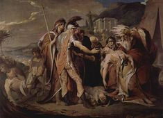 Lear weeping over Cordelia's body- by James Barry