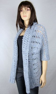 PLUME - Gilet en alpaga ultra léger style oversize en t 40 (M) - pull tricot main