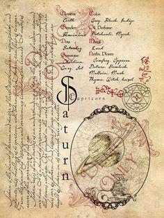Planetary Magick | Saturn Correspondences